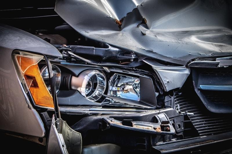 headlight damaged automobile