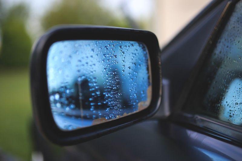 side mirror rain